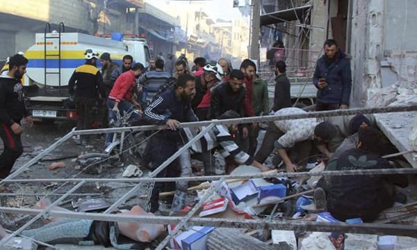 60 000 души напуснаха домовете си в Сирия заради въздушни атаки