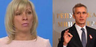 Захарова с лично послание към генералния секретар на НАТО: Пожелавам ви здраве